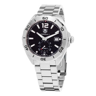 Tag Heuer Men's WAZ2110.BA0875 'Formula 1' Black Dial Stainless Steel Bracelet Swiss Automatic Watch