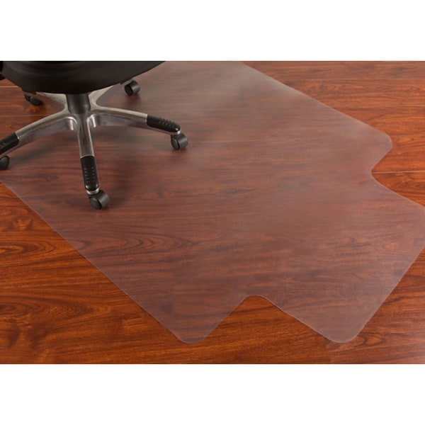 Mammoth 45 x 53 Rectangular Hard Floors Chair Mat with Lip