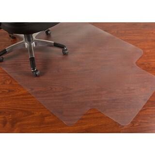 Mammoth 45 x 53 Rectangular Hard Floors Chair Mat with Lip