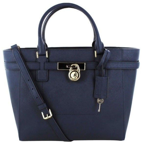 Michael Kors Hamilton Large Top Zip Saffiano Tote - Navy
