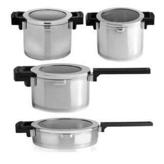 Berghoff Neo 8-piece Cookware Set with Glass Lids