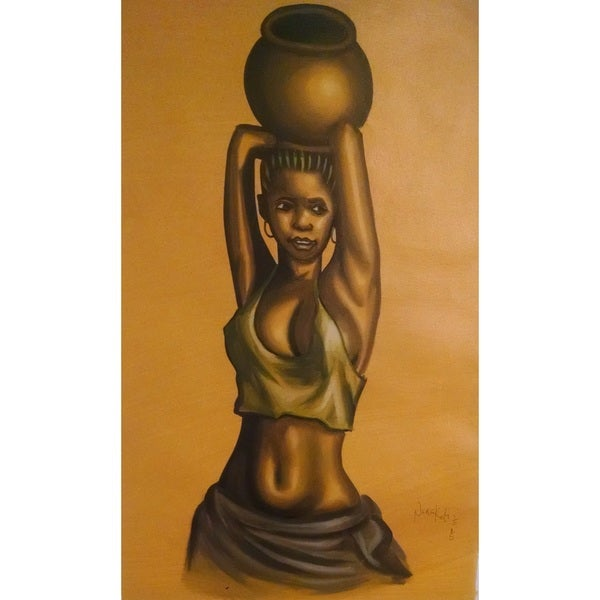 African Girl Water Bearer (Ghana)