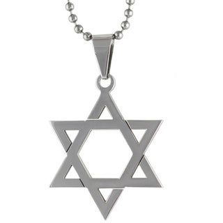 Stainless Steel 30mm Star of David Necklace