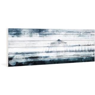 "Parvez Taj - ""Waterspotted Pier"" Print on White Wood"