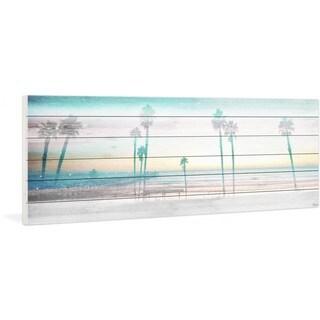 "Parvez Taj - ""Playa in the Dusk"" Print on White Wood"