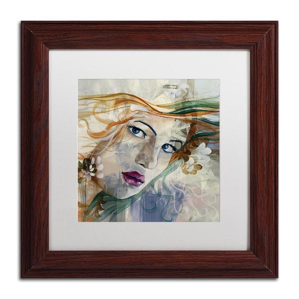 Andrea 'Mia' White Matte, Wood Framed Wall Art