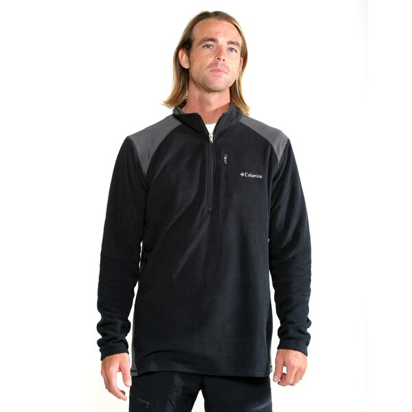 Columbia Men's Black Elevator Shaft Hybrid Half Zip