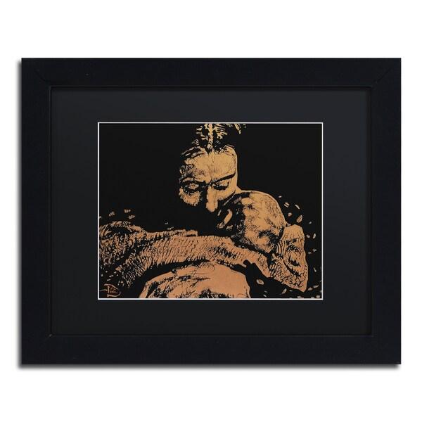 Lowell S.V. Devin 'Regenerative Awakening' Black Matte, Black Wood Framed Wall Art