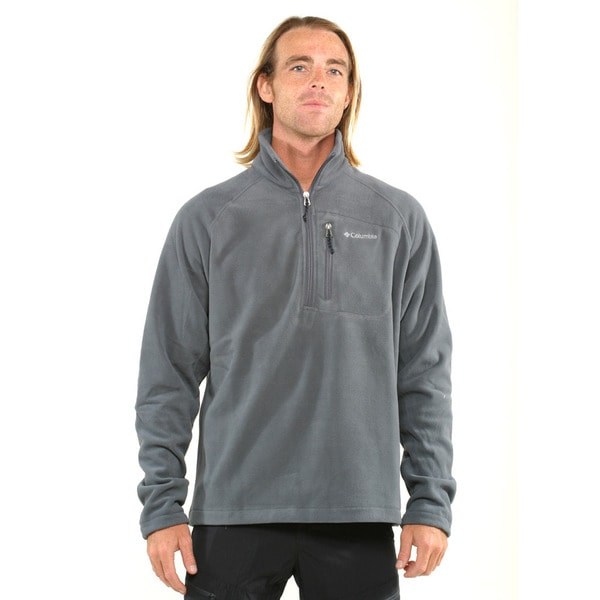 Columbia Men's Grey Fast Trek II Half Zip Fleece