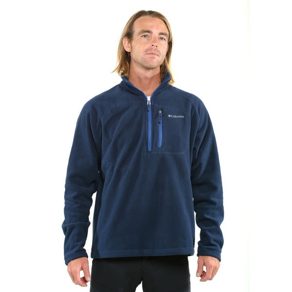 Columbia Men's Navy Fast Trek II Half Zip Fleece