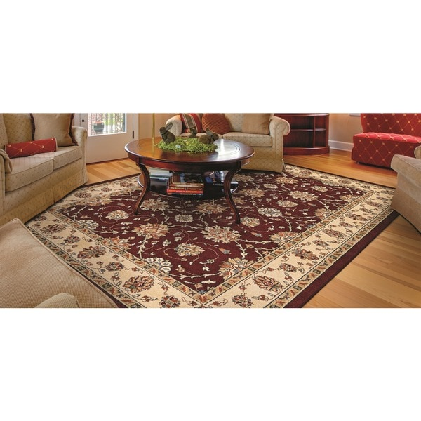 Couristan Traditions Halle Ruby Ivory  Area Rug (5'3 x  7'6) 16013394