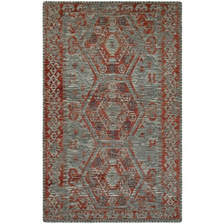 Couristan Mandolina Serik Grey/ Terracotta Area Rug (6'6 x 9'6)