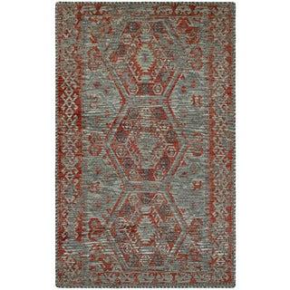 Couristan Mandolina Serik Grey/ Terracotta Area Rug (5'3 x 7'6)