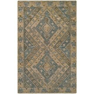 Couristan Mandolina Kitreli Grey/ Ivory Area Rug (5'3 x 7'6)