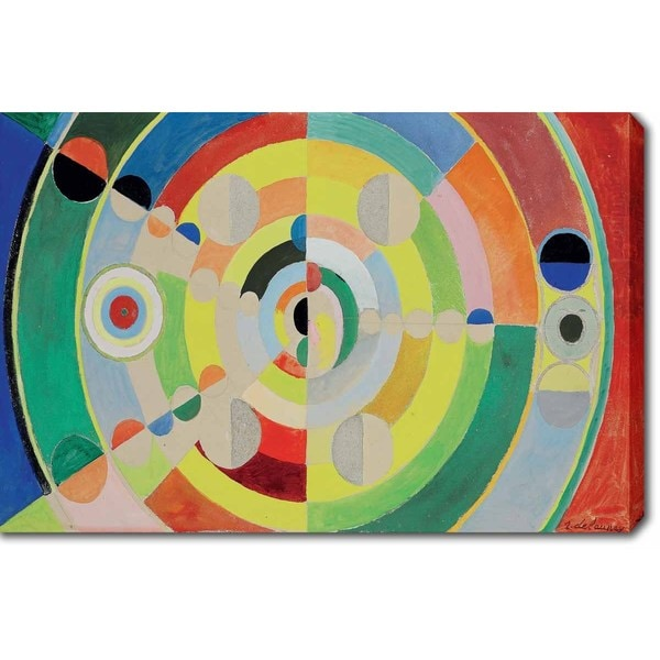 Robert Delaunay 'Relief-Disques' Oil on Canvas Art