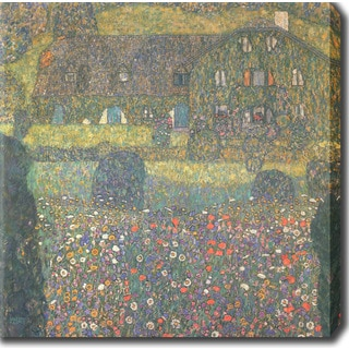 Gustav Klimt 'Country House by the Attersee' Oil on Canvas Art