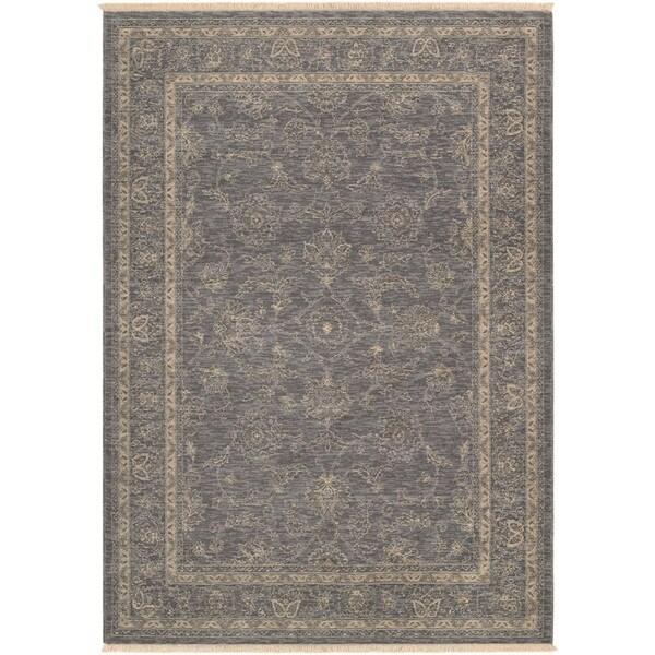 Couristan Elegance Aurelia Dusty Blue/ Beige Area Rug (5'6 x 7'8)