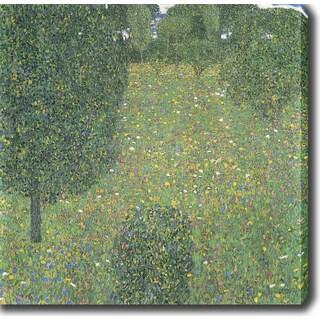 Gustav Klimt 'Landscape Garden (Meadow in Flower)' Oil on Canvas Art