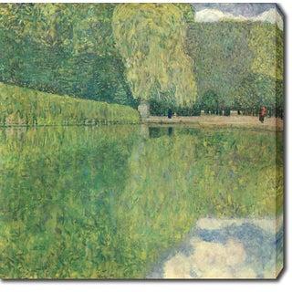 Gustav Klimt 'Park of Schonbrunn' Oil on Canvas Art