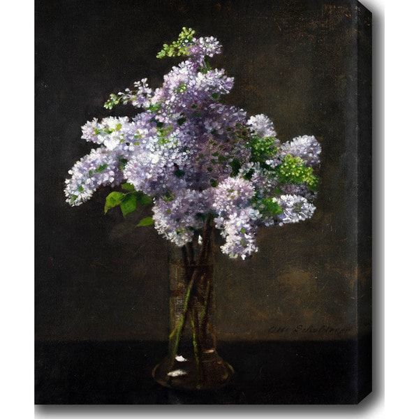 Lilac 'Otto Franz Scholderer' Oil on Canvas Art