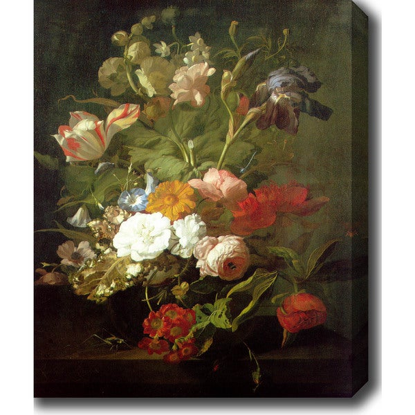 Rachel Ruysch 'Flower Still Life II' Oil on Canvas Art