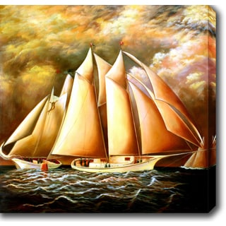 The Sailboats' Oil on Canvas Art