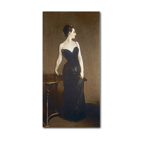 John Singer 'Portrait of Madame Gautreau' Canvas Art