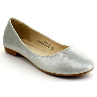 Bellamarie Dana-22 Women's Classic Almond Toe Slip On Ballet Flat Shoes