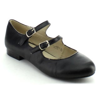 Bellamarie Joyce-1 Women's Double Adjustable Buckle Strap Mary Jane Flats
