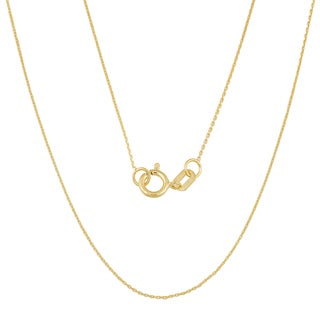 Fremada 14k Gold 0.6-mm High Polish Cable Chain Necklace (yellow gold or white gold)