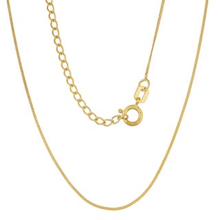 Fremada 14k Gold 0.7-mm High Polish Curb Chain Necklace (yellow gold or white gold)