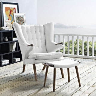 Modway Bear Lounge Chair and Ottoman
