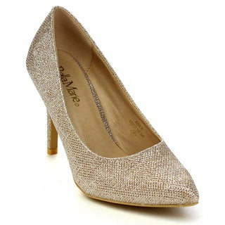 Bellamarie Ada-5 Women's Glitter Pointed Toe Stiletto Heel Office Dress Pumps