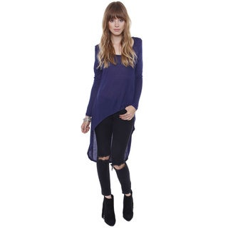 Beston Basics Junior's Hi Low Long Sleeve Dusty Tunic 67887