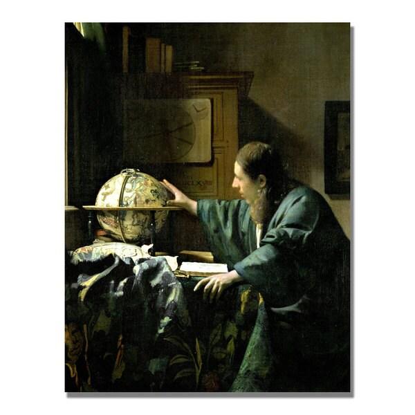 Jan Vermeer 'The Astronomer' Canvas Art