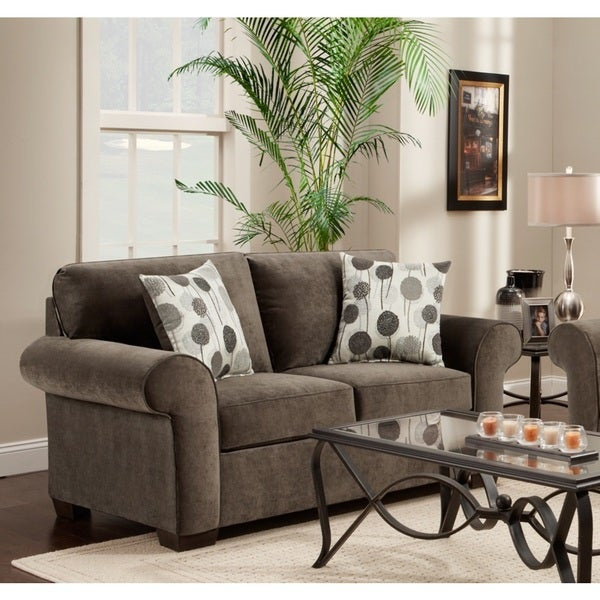 Fabric Loveseat with 2 Pillows, Elizabeth Ash
