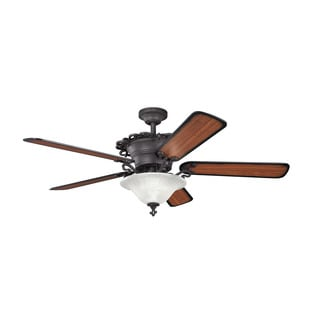 Kichler Lighting Wilton Collection 54 inch Distressed Black Ceiling Fan w/Light
