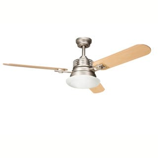 Kichler Lighting Structures Collection 52 inch Brushed Nickel Ceiling Fan w/Light