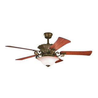 Kichler Lighting Rochelle Collection 52 inch Carre Bronze Ceiling Fan w/Light