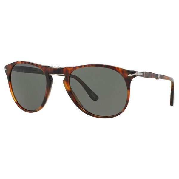 Persol Men's PO9714S Plastic Pilot Polarized Sunglasses