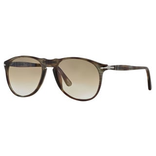 Persol Men's PO9649S Plastic Pilot Sunglasses