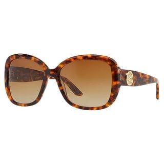 Versace Women's VE4278B Plastic Square Polarized Sunglasses