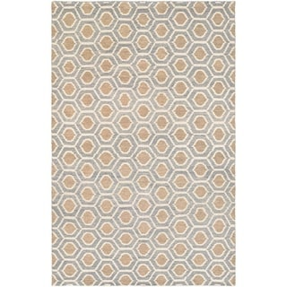 Couristan Retrograde Solar Flare Steel Blue/ Camel Area Rug (3'5 x 5'5)
