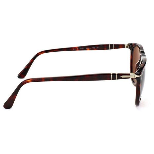 Persol Men's PO3114S Plastic Pilot Polarized Sunglasses