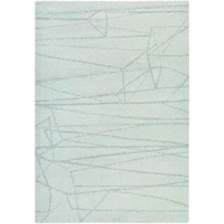 Couristan Moonwalk Dorado Ice Blue/ Light Sage Area Rug (3'11 x 5'7)