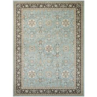 Couristan Konya Sakarya Light Blue/ Charcoal Area Rug (3'11 x 5'6)