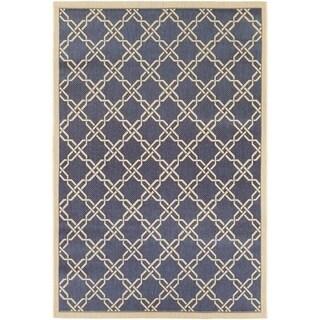 Couristan Five Seasons Sun Island Blue/ Cream Area Rug (3'11 x 5'6)