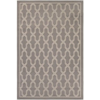 Couristan Five Seasons Crystal Coast Grey/ Cream Area Rug (4'11 x 7'6)