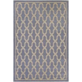 Couristan Five Seasons Crystal Coast Blue/ Cream Area Rug (3'11 x 5'6)