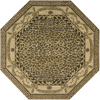 Nourison Grand Parterre Beige Octagon Rug (5'6 x 5'6)